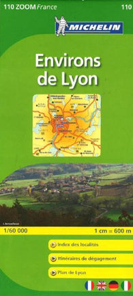 Buy map Lyon, Environs De Lyon, Zoom Map (110) by Michelin Maps and Guides