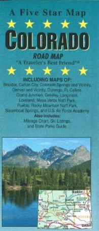 Buy map Colorado by Five Star Maps, Inc.