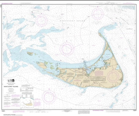 Buy map Nantucket Island (13241-18) by NOAA