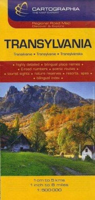 Buy map Transylvania by Cartographia