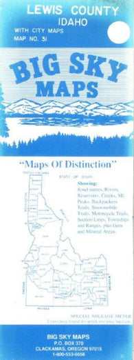 Buy map Lewis County, Idaho by Big Sky Maps