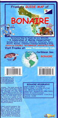 Buy map Caribbean Map, Bonaire Guide and Dive, folded, 2008 by Frankos Maps Ltd.