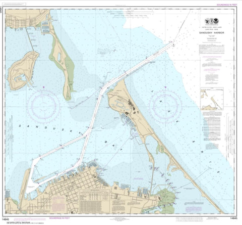 Buy map Sandusky Harbor (14845-28) by NOAA