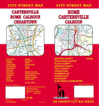 Buy map Rome, Cartersville and Calhoun, Georgia by GM Johnson