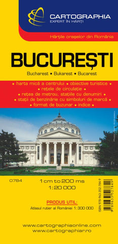 Buy map Bucharest, Romania by Cartographia