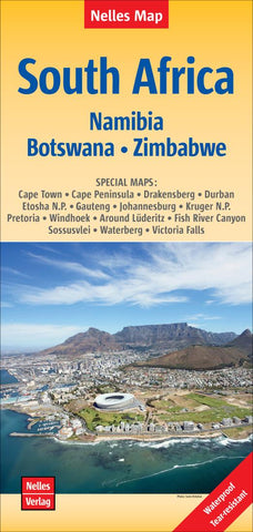 Buy map South Africa, Namibia, Zimbabwe, and Botswana by Nelles Verlag GmbH