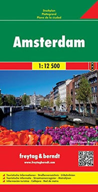 Buy map Amsterdam, Netherlands by Freytag-Berndt und Artaria