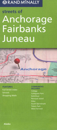 Buy map Anchorage, Fairbanks and Juneau, Alaska by Rand McNally