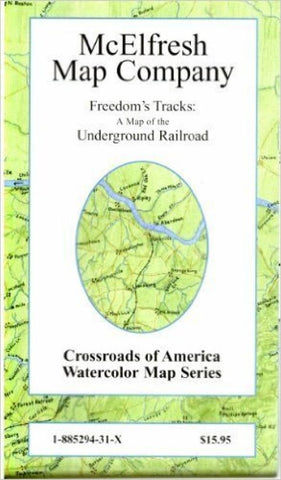Buy map Freedoms Tracks, Map of the Underground Railroad by McElfresh Map Co.
