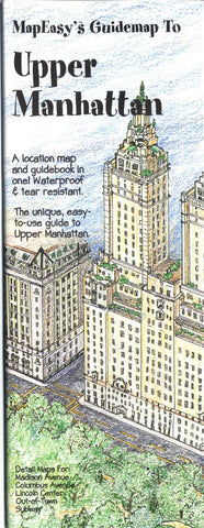 Buy map Upper Manhattan, NY Guidemap by MapEasy, Inc.