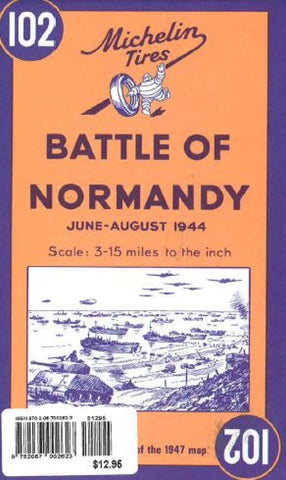Buy map Battle of Normandy, 1944 Reproduction (102) by Michelin Maps and Guides