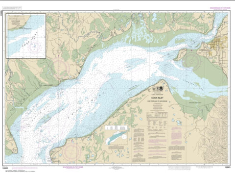 Buy map Cook Inlet-East Foreland to Anchorage; North Foreland (16663-9) by NOAA