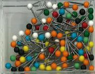 Buy map Box of 100 Small Round-Head Map Tacks, Assorted Colors by Moore Push-Pin Co.