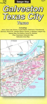 Buy map Galveston and Texas City, Texas by The Seeger Map Company Inc.