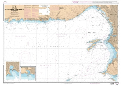 Buy map Du Cap Couronne au Cap Croisette - Golfe de Marseille by SHOM