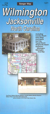 Buy map Wilmington and Jacksonville, North Carolina by The Seeger Map Company Inc.