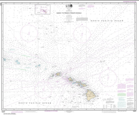 Buy map Hawai'i to French Frigate Shoals (19007-18) by NOAA