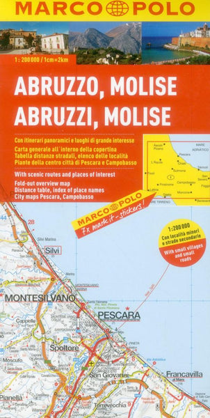Buy map Abruzzo and Molise, Italy by Marco Polo Travel Publishing Ltd