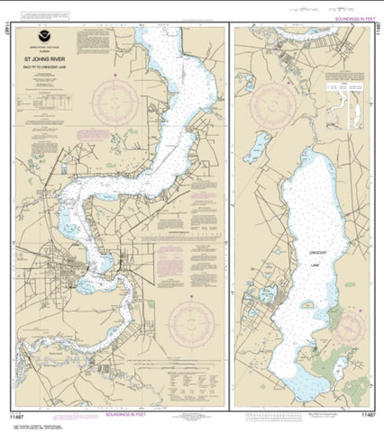 Buy map St. Johns River Racy Point to Crescent Lake (11487-20) by NOAA