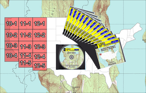 Buy digital map collection YellowMaps U.S. Topo Maps Western USA DVD Collection