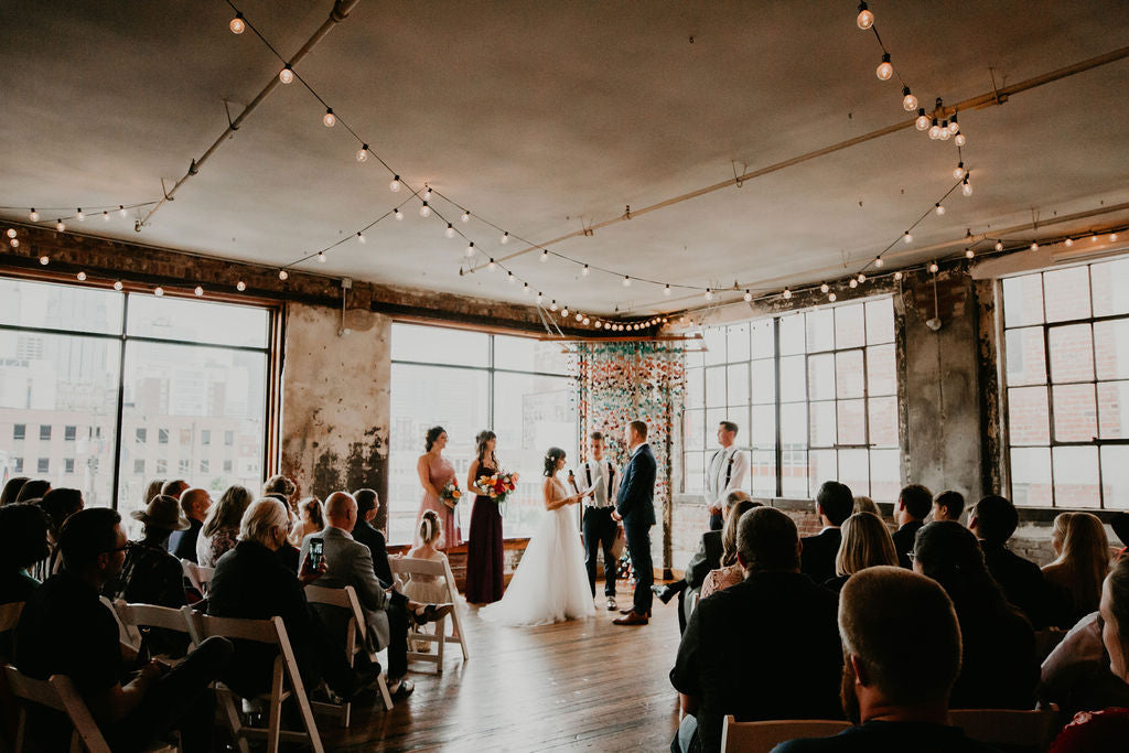 Grace and Ivory Gemma Dress at the Big Fake Wedding Kansas City Tori Alizabeth Photo