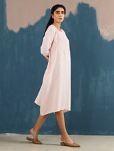 Load image into Gallery viewer, Serene Pintucked Dress in Blush