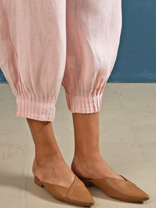 Lenora Pintuck Pants in Blush