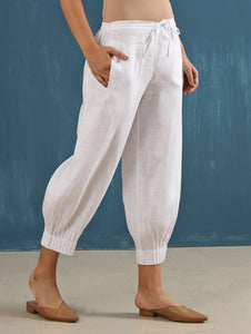 Lenora Pintuck Pant in White