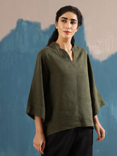 Load image into Gallery viewer, Kaiya Zen Top in Olive