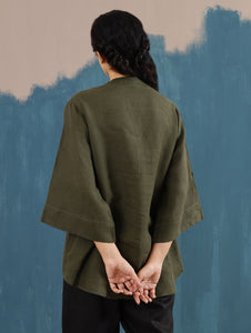 Kaiya Zen Top in Olive