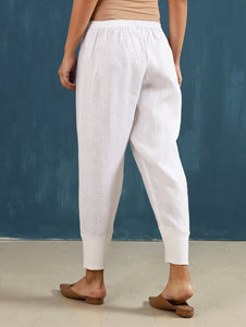 Zendo Cropped Pant in White