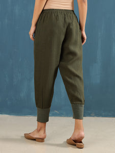 Zendo Cropped Pants in Olive