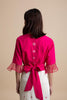Back Embroidered Blouse with OBI Belt