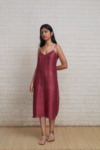 Spaghetti Dress Burgundy