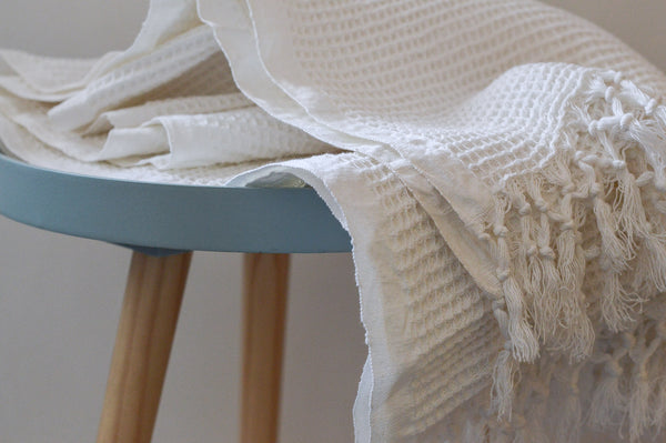 Handwoven Towel : White