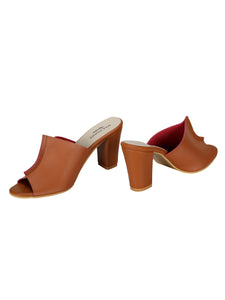 Two Toned Mules- Tan