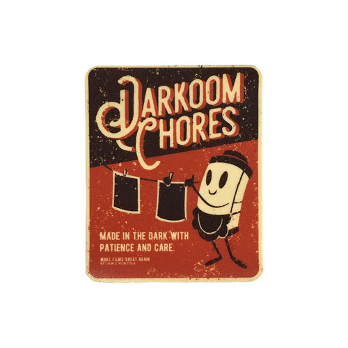 DARKROOM CHORES STICKER