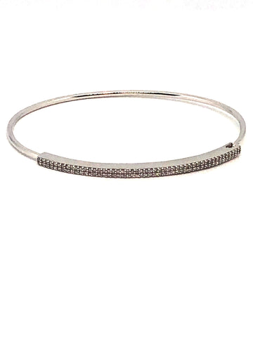 White Gold and Diamond Delicate Double Row Bracelet