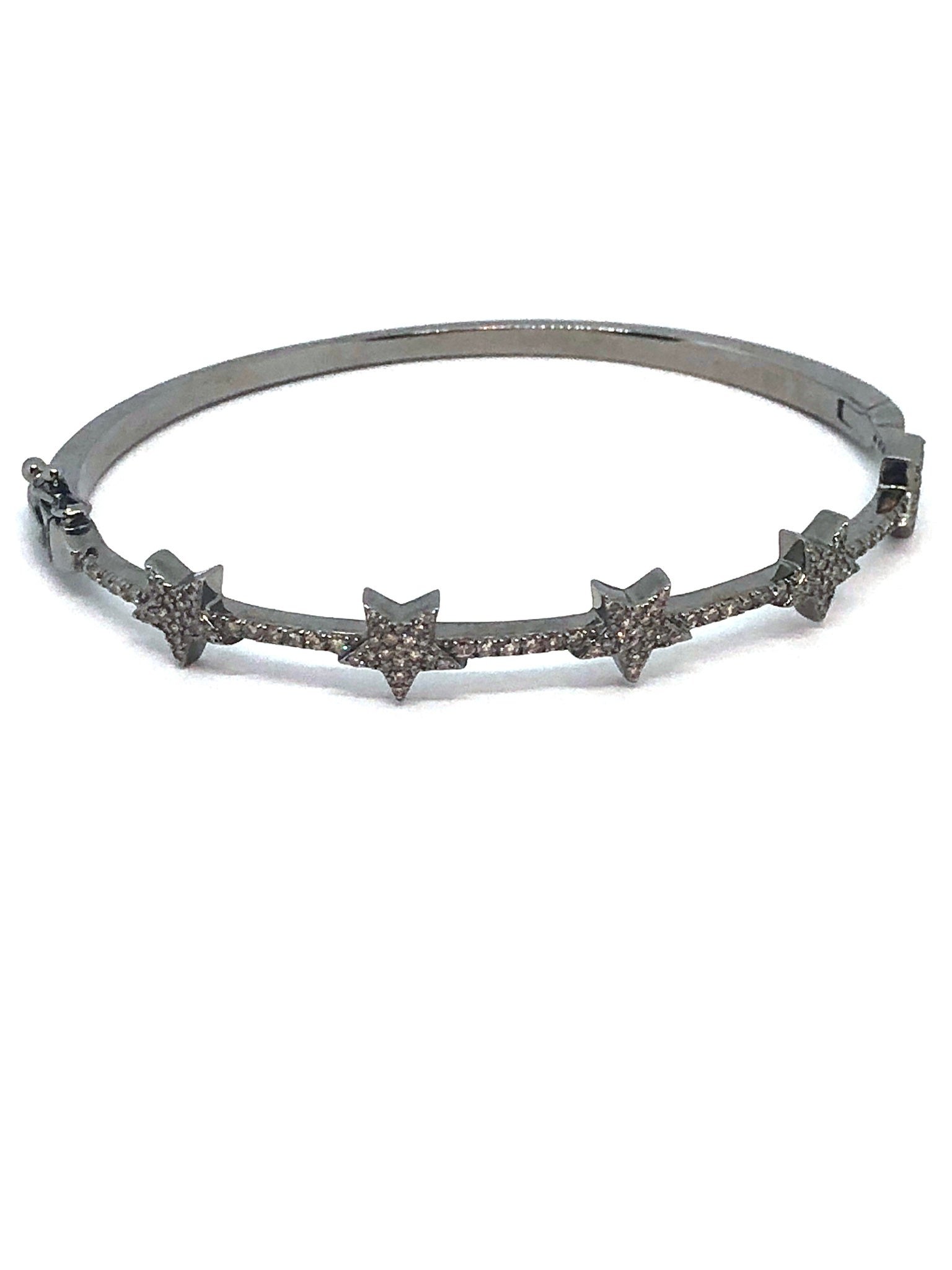 Diamond and Silver Star Bracelet