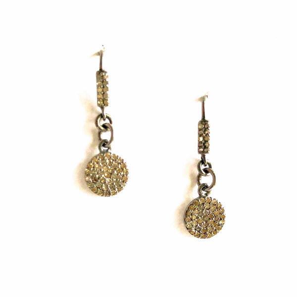 Old World Diamond Accent Drop Earrings with Oxidized Silver