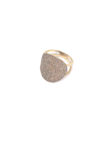 Diamond Wrap Disk Ring