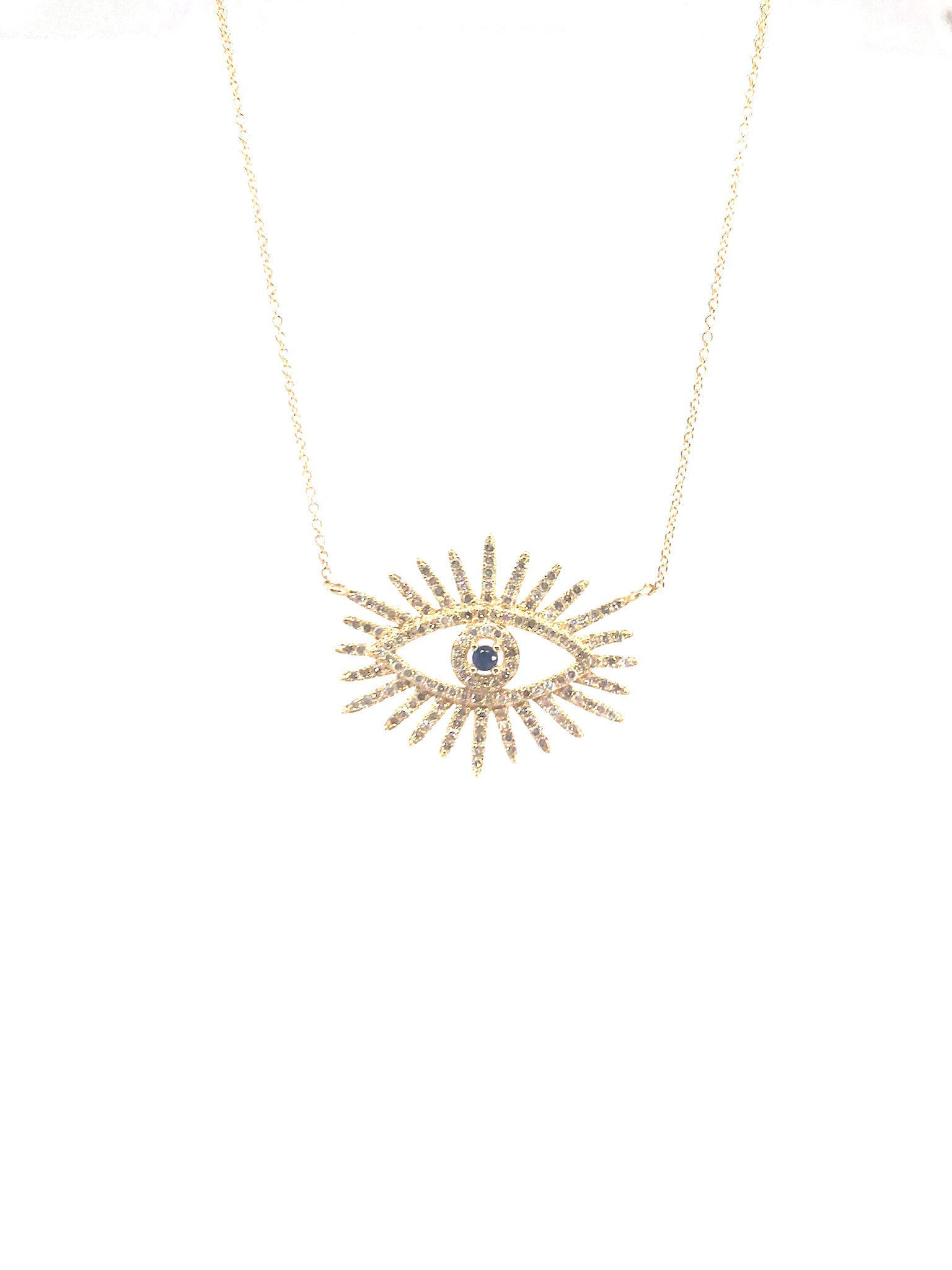 Evil Eye Neclace in Gold and Diamonds