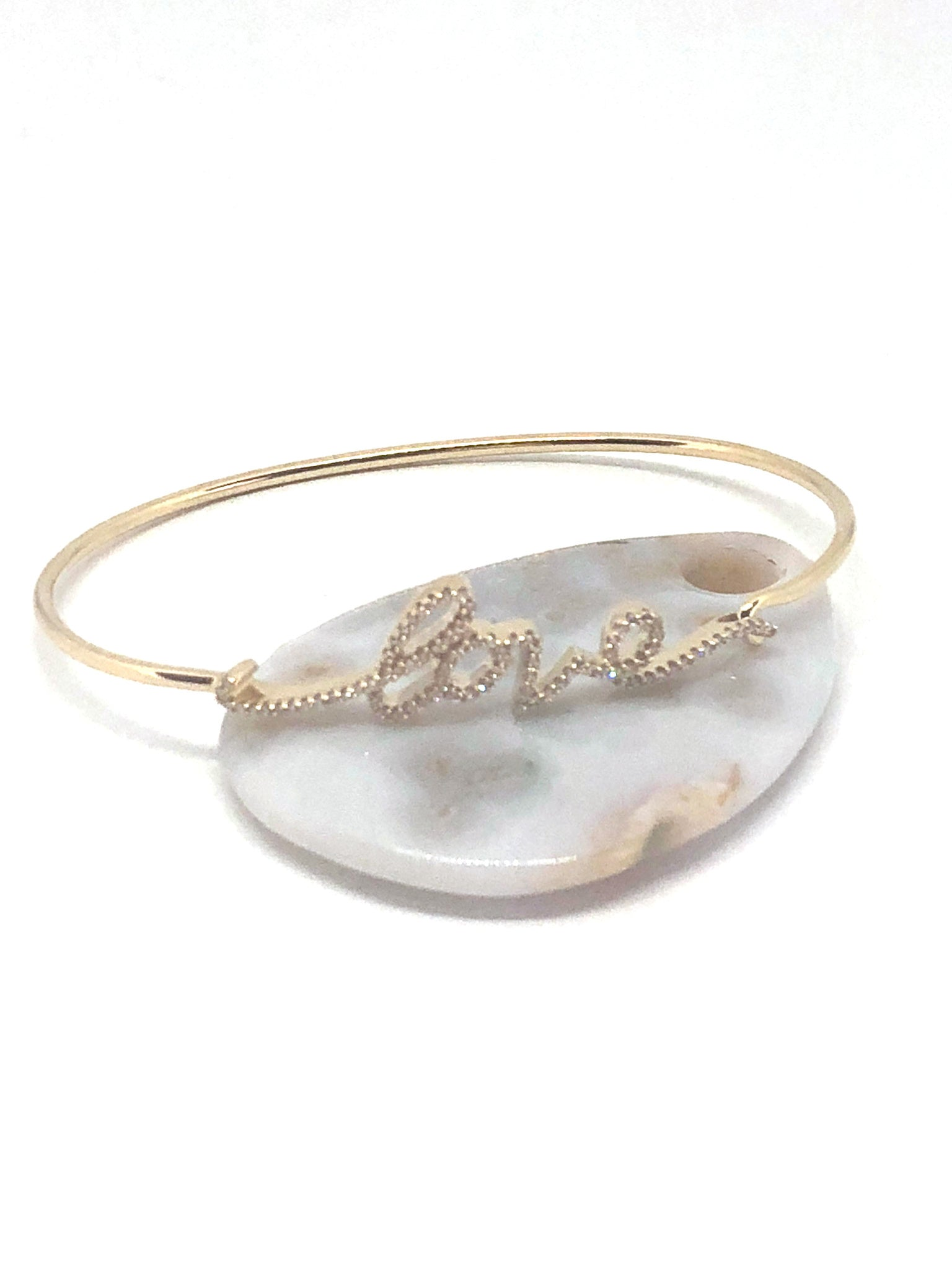 Love Diamond and Gold Bracelet
