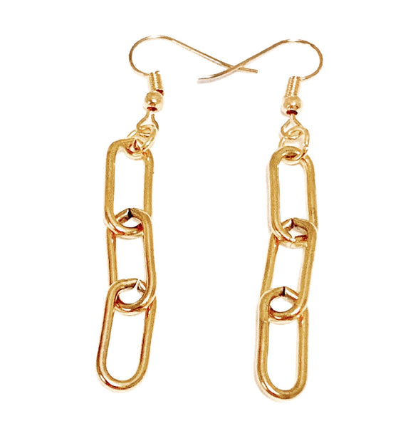 Paperclip Chain Drop Earrings - Vibes Jewelry