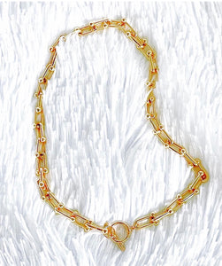 14K Gold-Filled U Link Chunky Necklace - Vibes Jewelry