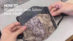 Fabric Face Mask Tutorial to beat Covid-19