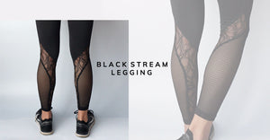 Activewear black stream Legging for women