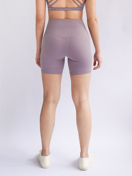 "Cadence 6"" Biker Shorts- Lilac - Banana Fighter"