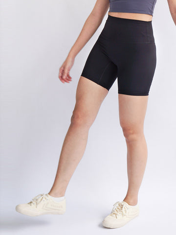 "Cadence 6"" Biker Shorts- Black - Banana Fighter"