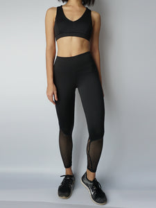 Black widow sportsbra and legging combo front